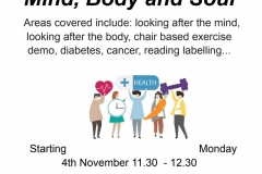 Mind Body Soul - Over 50s Group
